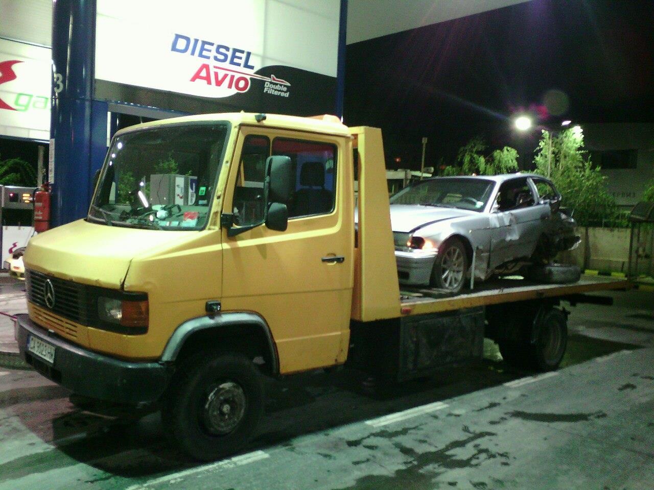 Пътна Помощ - Репатриране на катастрофирало BMW