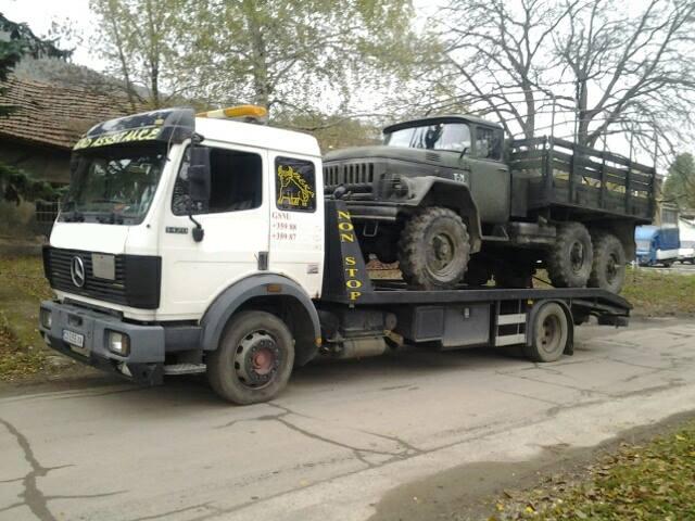 Пътна Помощ - Превоз на военна техника